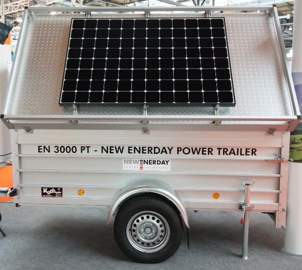 Mobile PV Power Trailer