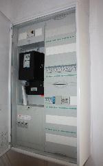 Moderner Strom Zählerkasten